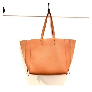 Leather tote bag from Ann Taylor